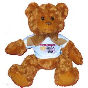 Pomeranians Leave Paw Prints on your Heart Plush Teddy Bear