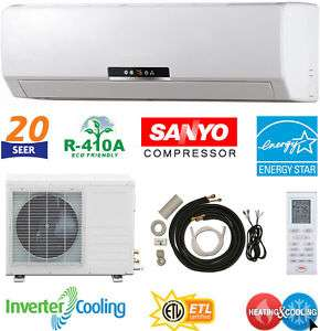 Energy Star 12000 BTU Mini Split Air Conditioner, Ductless Inverter