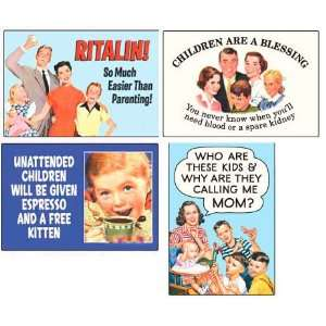 Parenthood Retro Humor Fridge Magnet Set
