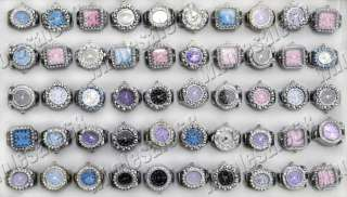 wholesale fashion stainless steel watch rhinestone ring