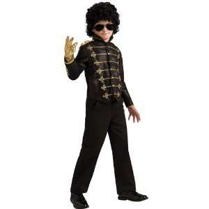 Black Military Jacket Deluxe Child Medium 8 10 Michael Jackson