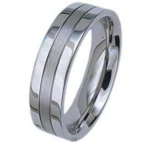 6MM Stainless Steel Ring With High Polished Edges and