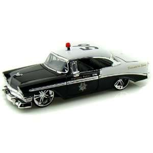 Jada 1/24 1956 Chevy Bel Air Police Car Toys & Games