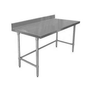 Economy Stainless Open Base Work Table w 2 Backsplash