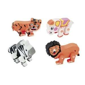 12 Movable Animal Erasers   Basic School Supplies & Erasers