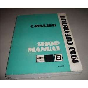 1983 Chevy Chevrolet Cavalier Service Shop Manual Oem Books