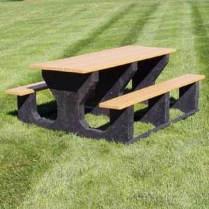Jayhawk Plastics Commercial Rectangular Picnic Table