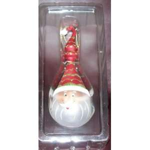 Blown Glass Long Face Santa Claus Collectible Ornament NIB