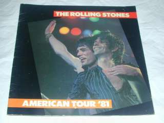 ROLLING STONES American 1981 TOUR Book 28 Full Color Pages Centerfold