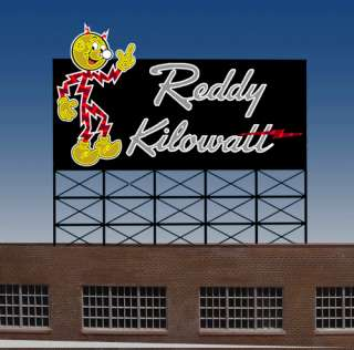 Reddy Kilowatt Animated Neon Billboard Sign N Scale 1160 Light Works