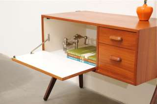 1950s Danish Modern Teak Entry Chest Table Mid Century Eames Era