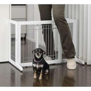 RICHELL FREESTANDING PET GATE SMALL DOG GATE WHITE PET GATE