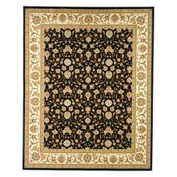 Collection Traditional Black/ Ivory Rug (33 x 53)