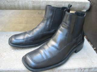 Kenneth Cole Reaction Used Black Leather Boots 8.5