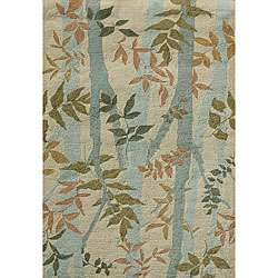 Blue/ Beige Area Rug (76 x 96)