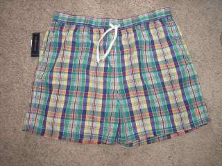 Polo Ralph Lauren Plaid Swim Trunks Big Tall NWT