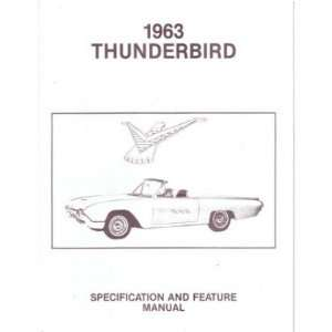 1963 FORD THUNDERBIRD Facts Features Sales Brochure