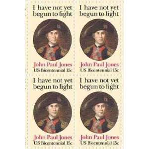 John Paul Jones Perforated Set of 4 x 15 Cent US Postage