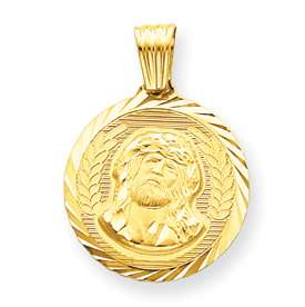 Gold Christ Head Face of Jesus Ecce Homo Pendant Charm Medal 3.6 grams