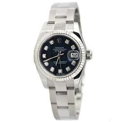 Rolex Womens Datejust Diamond Stainless Steel Watch