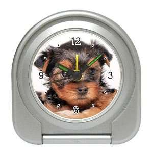 Yorkshire Terrier Puppy Dog 8 Travel Alarm Clock JJ0655