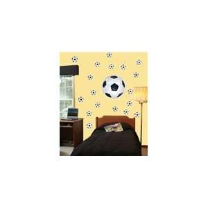 Soccer Ball Wall Logo Decal Room Pack