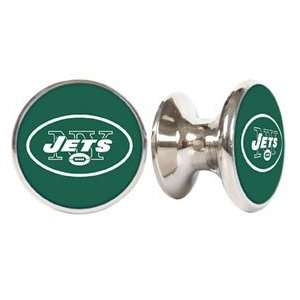 New York Jets NFL Stainless Steel Cabinet Knobs / Drawer Pulls (2 pack