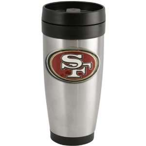 San Francisco 49ers Stainless Steel Team Logo Thermo Travel Tumbler