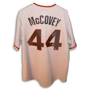 Autographed Willie McCovey San Francisco Giants Gray Jersey Inscribed
