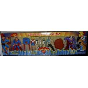 SUPERMAN  SUPER HEROES VS SUPER VILLAINS  4 PACK OF