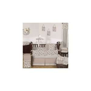 Giraffe 9 Piece Neutral Baby Crib Bedding Set Baby