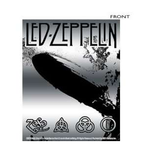 Led Zeppelin   Led Zeppelin Chrome Zeppelin Sticker