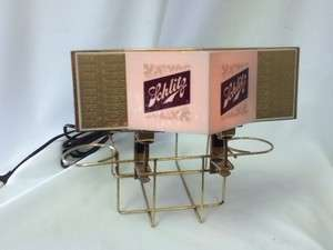 F1 SCHLITZ BEER SIGN LIGHT BAR NAPKIN STRAW HOLDER LIGHTED OLD VINTAGE