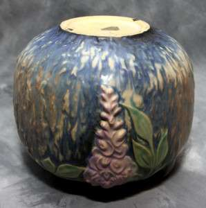 Lovely Roseville Pottery Wisteria Two Handled Vase 1930s
