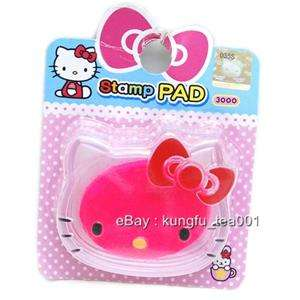 Sanrio Hello Kitty Die Cut Stamp Ink Pad Inkpad   Pink