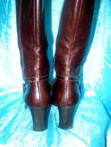 ANNE KLEIN BROWN KNEE HIGH BOOTS 6.5