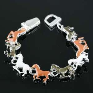 Western Running Horses Cowgirl Bracelet Jewelry