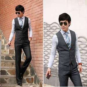 2011 New Men Stylish Casual Slim Fit Suit Vests 6258