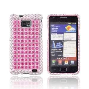 Pink & Silver Gems on Pink Gems Hard Plastic Case For