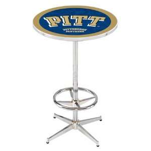 36 Pitt Counter Height Pub Table   Chrome Base with Footrest