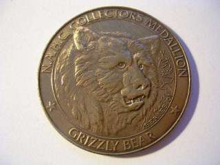 AMERICAN HUNTING CLUB COLLECTORS MEDALLION SERIES 01 GRIZZLY BEAR