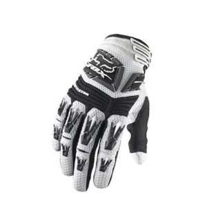 Fox Racing Pawtector Full Finger Motocross Gloves   White  03167 008