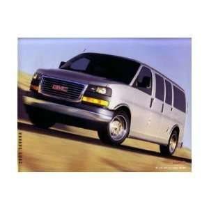 2003 GMC SAVANA Sales Brochure Literature Book Piece