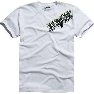 Fox Racing Blast T Shirt   X Large/White/Green Automotive