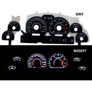 94 98 Ford Mustang GT Black/(white Light) Glow Gauge