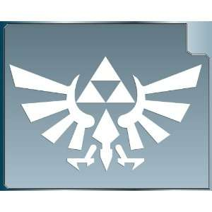 TRIFORCE LOGO #1 from the Legend of Zelda WHITE vinyl decal sticker 6