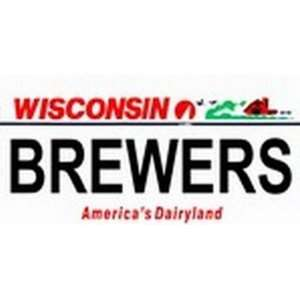 Wisconsin State Background License Plates   Brewers Plate
