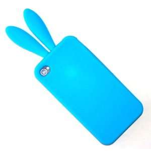 APPLE IPHONE 4 4S AT&T VERIZON SPRINT BABY BLUE RABBIT SILICON CASE