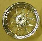 HARLEY DAVIDSON SOFTAIL DYNA CHROME 40 SPOKE LACED FRONT WHEEL RIM