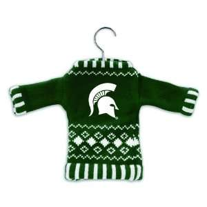 Pack of 4 NCAA Michigan State Spartans Sweater Christmas Ornaments on
